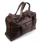 Auergewhnlicher-Design-Weekender-Reisetasche-aus-Leder-von-Shalimar-Supernatural-Farbe-ColourDunkelbraun-0